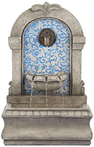 "John Timberland Manhasset 30 1/4"" High Stone and Blue Outdoor Floor Fountain"
