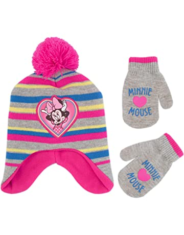4e6c76fb973ca Disney Girls  Toddler Minnie Mouse Pom Hat and Mittens Cold Weather Set