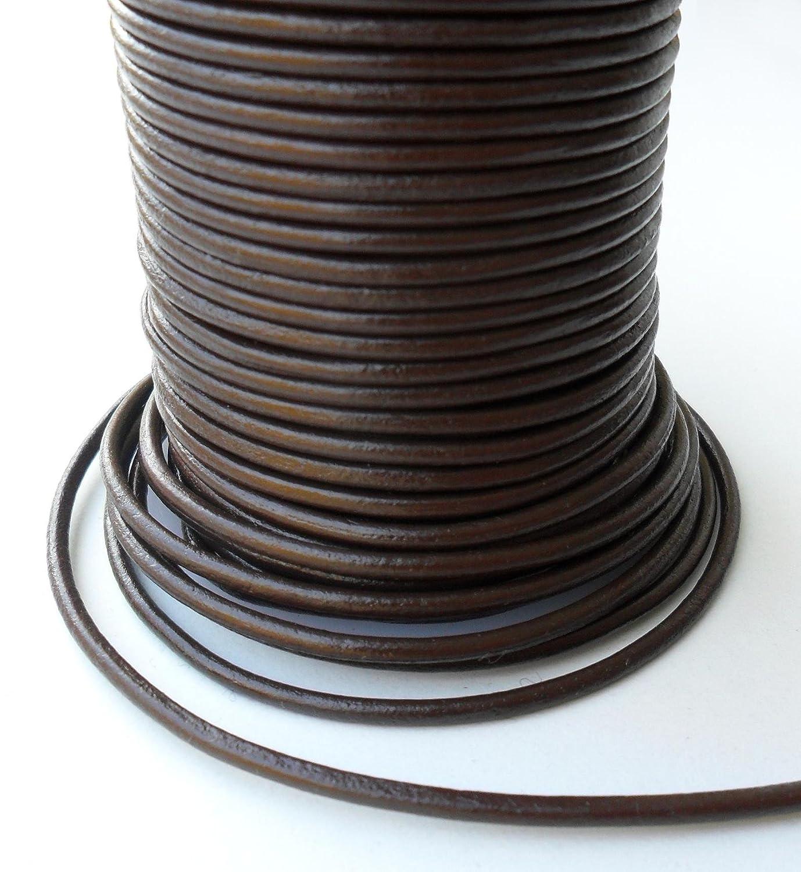 Colour Negro Auroris 25 M Rollo de cord/ón de Cuero dise/ño Redondo de di/ámetro de 1 mm