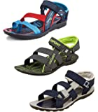 Tempo Men's Combo Pack of 3 Floaters Sandals