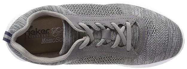 Rieker Damenschuhe Sneaker grau Memo Soft Größe 38 39 NEU N4105 leicht