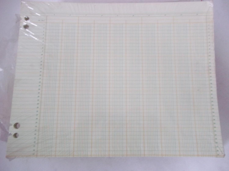 National Columnar Sheet RR 144-7 14 Columns 37 Line 11 x 14 Sold in Bulk Packages of 20 Sheets