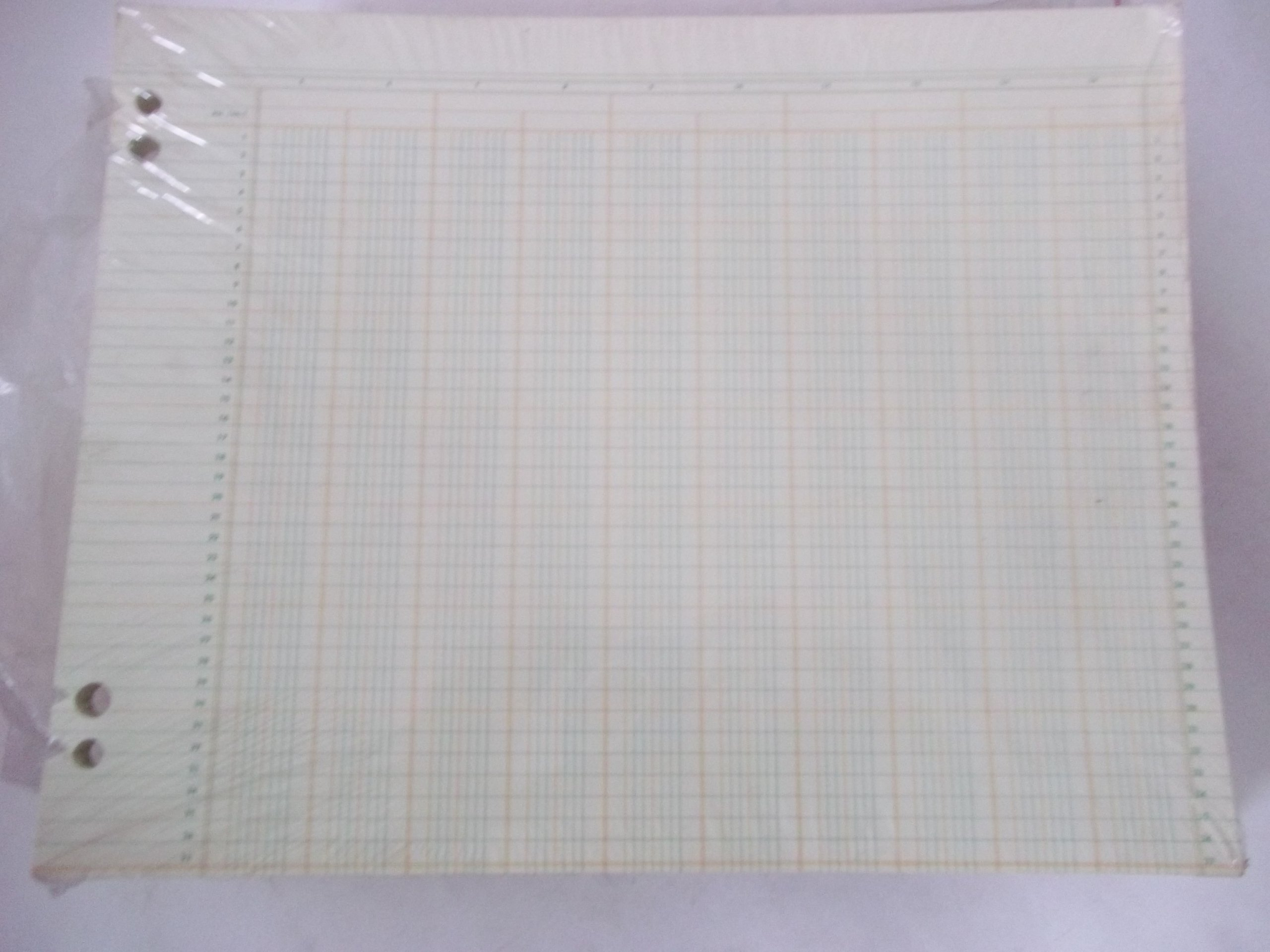 National Columnar Sheet RR 144-7 14 Columns 37 Line 11'' x 14'' Sold in Bulk Packages of 20 Sheets