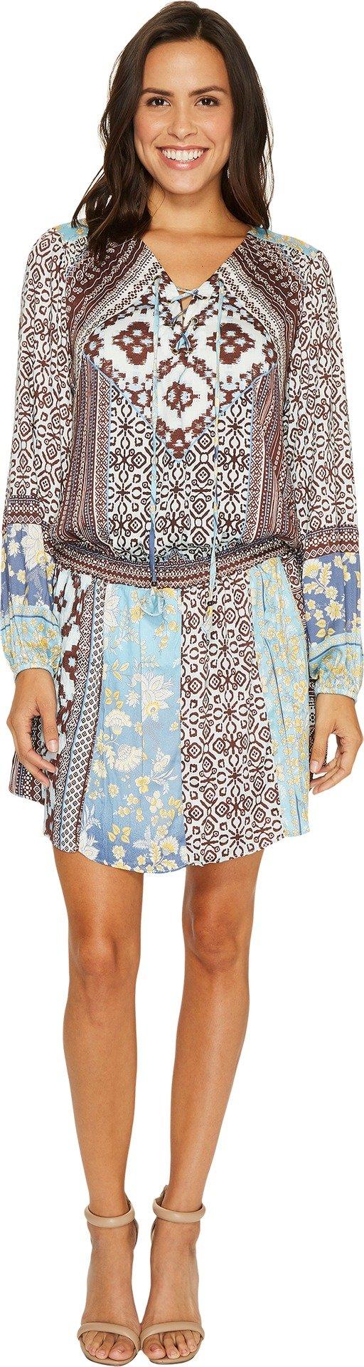 Hale Bob Women's A Fine Line Stretch Satin Woven Dress Blue Dress