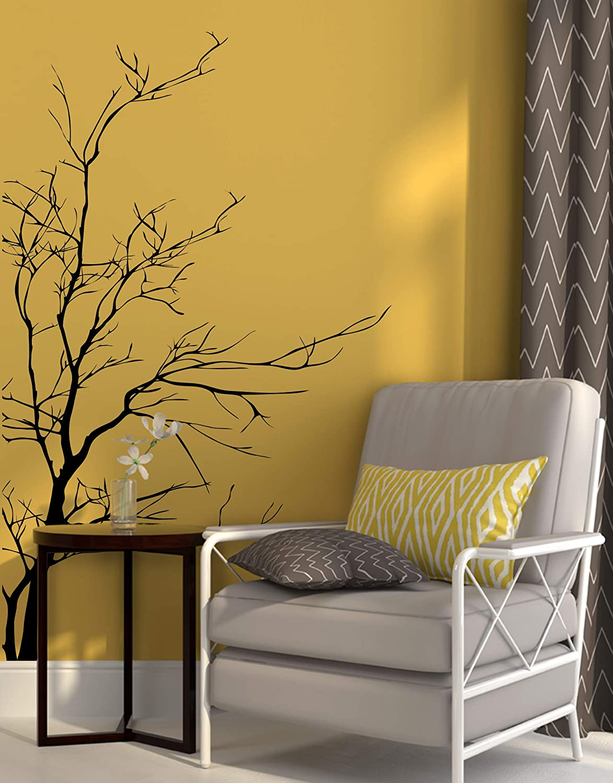 Grande Laterales Pared árbol Rama Pájaros Arte Pegatina Vinilo Adhesivo