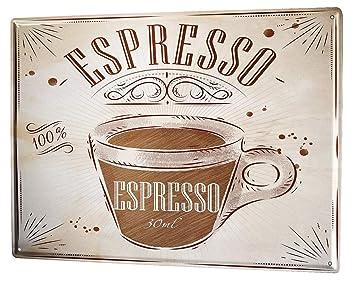 Blechschild XXL Kaffee Cafe Bar  Espresso