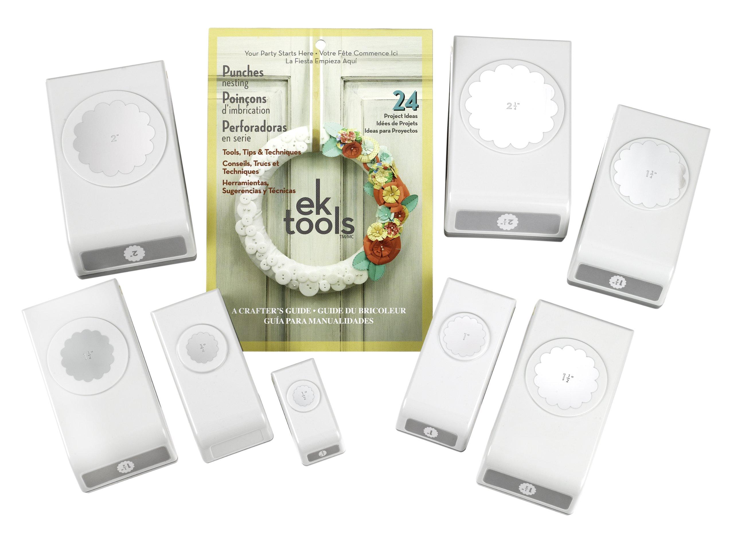ek tools Circles and Scallop Nesting Punch Kit