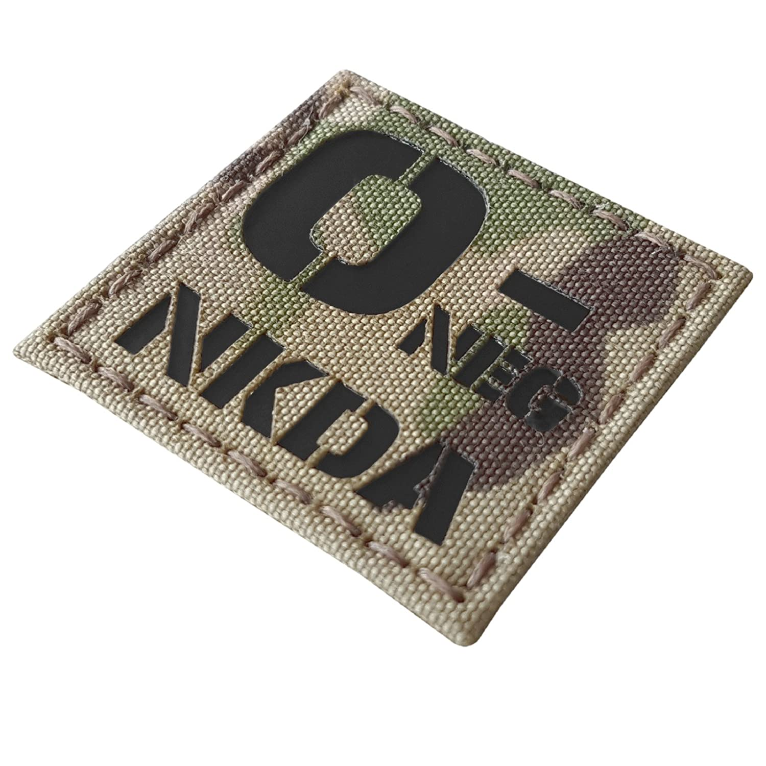 Blood Type 2x2 Tactical Morale Hook/&Loop Patch Multicam Infrared IR ONEG NKDA O