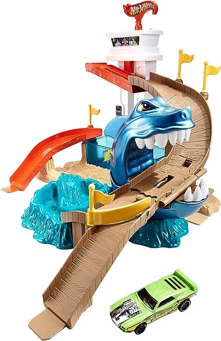 Amazon.com: Hot Wheels Color Shifters Sharkport Showdown [Amazon Exclusive]: Toys & Games