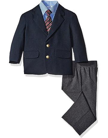 f334d314354b7 Nautica Baby Boys 4-Piece Suit Set with Dress Shirt, Jacket, Pants,