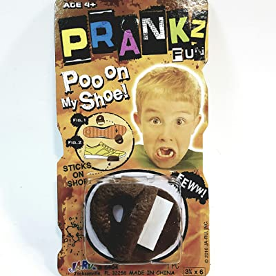 PRANKZ Fake Poo On My Shoe Realistic Looking Plastic Doo Doo Prank Novelty: Toys & Games