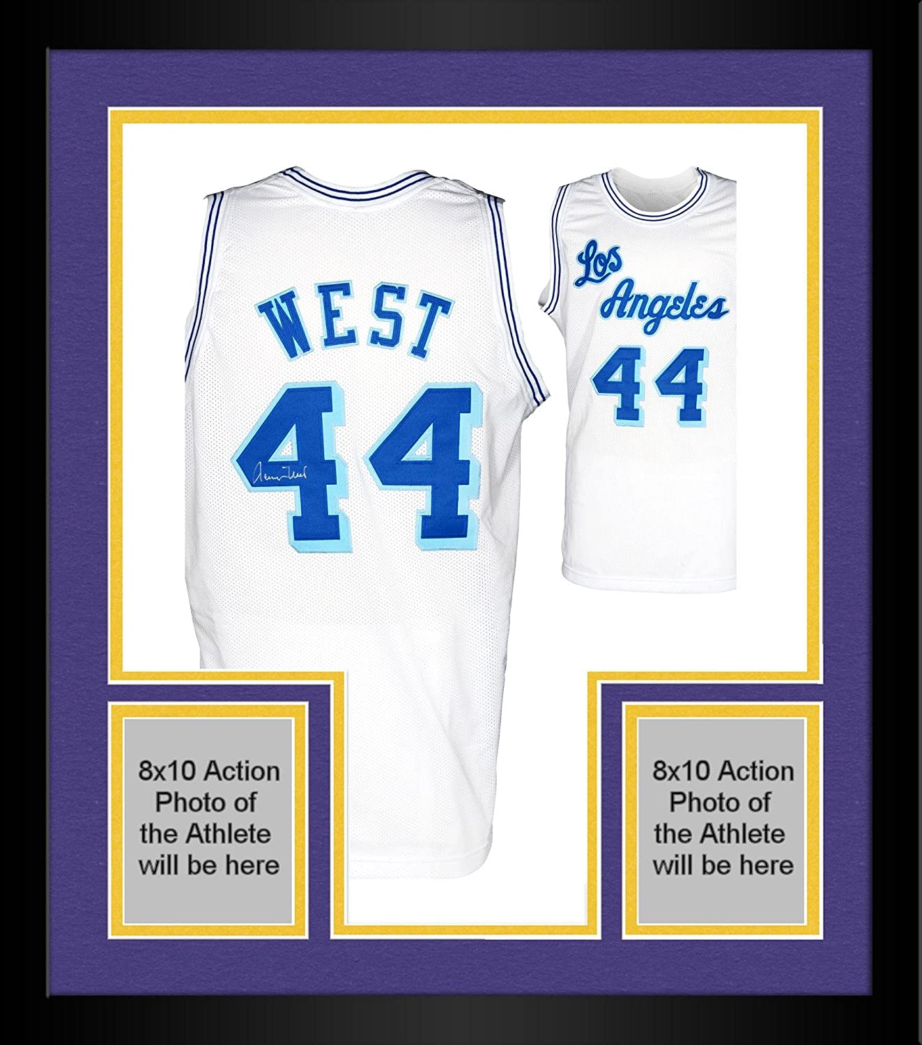 sports shoes 7a324 0aa52 Framed Jerry West Los Angeles Lakers Autographed Jersey ...