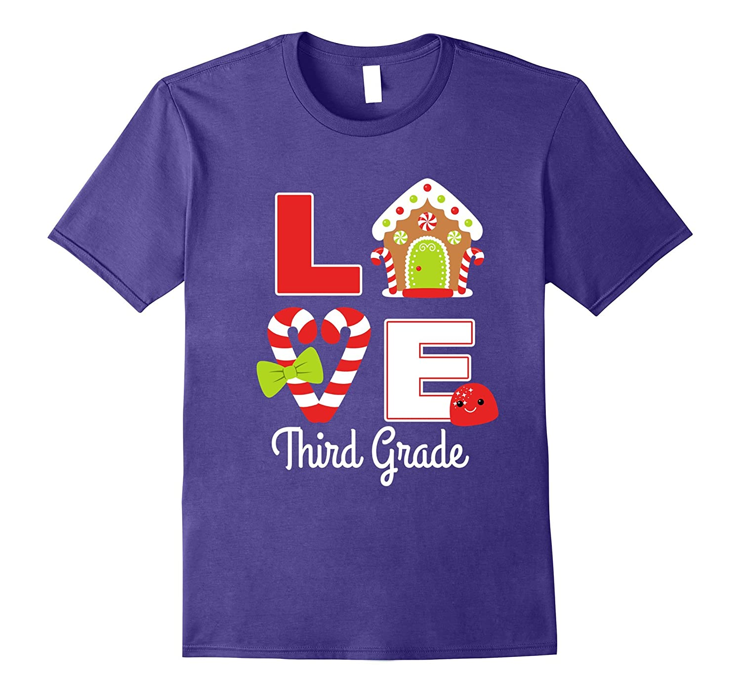 3rd Grade Teacher Christmas Cute Gift Shirt Girls Mom Team-FL
