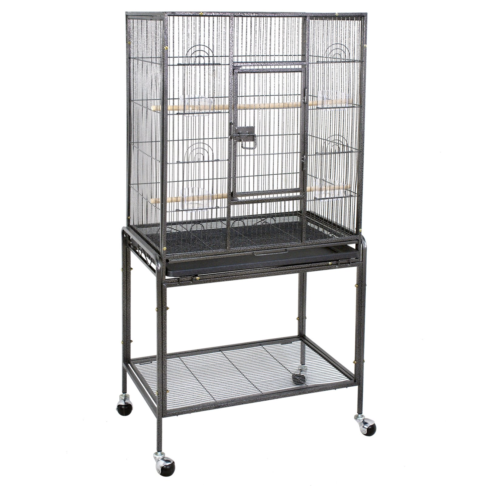ZENY Bird Cage Stand Wrought Iron Construction 53-Inch Pet Bird Cage Play Top Parrot Cockatiel Cockatoo Parakeet Finches Birdcage