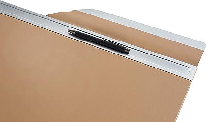 cognac 66 x 0.6 x 44 cm similpelle dalta qualit/à con barra metallica SIGEL SA402 Sottomano da scrivania