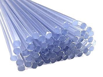 Alambre de soldadura de plástico PVC-U duro 4mm Redondo Transparente 25 barra: Amazon.es: Coche y moto