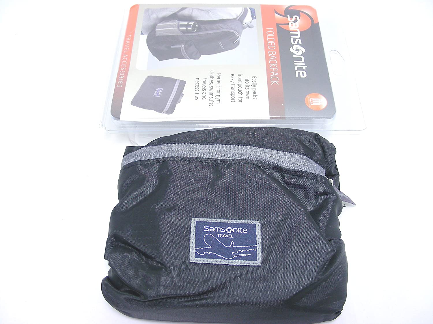Samsonite Travel Folded Foldable Backpack with Transport Pouch