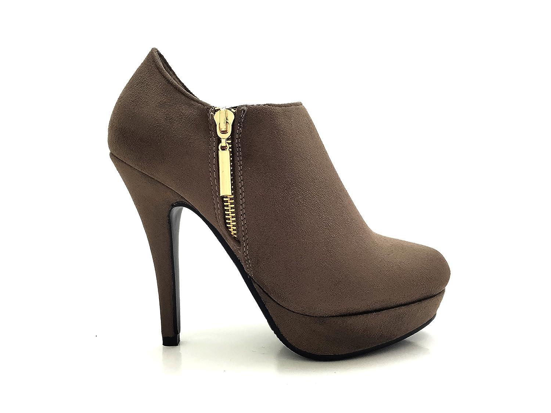 CHIC NANA Aiguille . Daim, Chaussure Femme Bottine à Talon Bottine Aiguille Plateforme, Aspect Daim, Zip Fantaisie. Taupe abe27f4 - reprogrammed.space