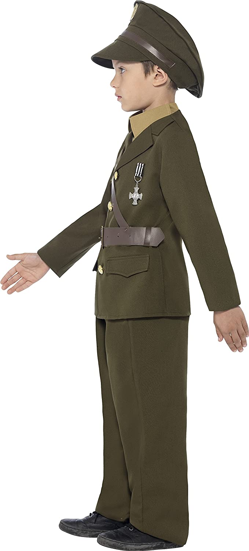 Smiffyu0027s Childrenu0027s Army Officer Costume Jacket Belt Trousers Hat Mock Shirt u0026 Tie Boys SizeM Colour Green 27536 Smiffys Amazon.co.uk Toys u0026 ...  sc 1 st  Amazon UK & Smiffyu0027s Childrenu0027s Army Officer Costume Jacket Belt Trousers ...