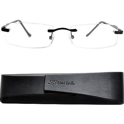 7029470282 Gafas de Lectura Montura al Aire con Cristales Rectangulares - Estuche de  Gafas Incluido GRATIS   Montura ...