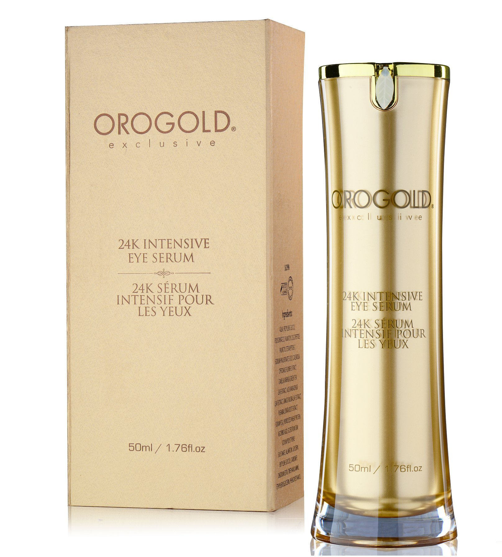 OROGOLD 24K Eye Serum for Wrinkles, Dark Circles and Puffiness | Gold Standard Is The Only Standard