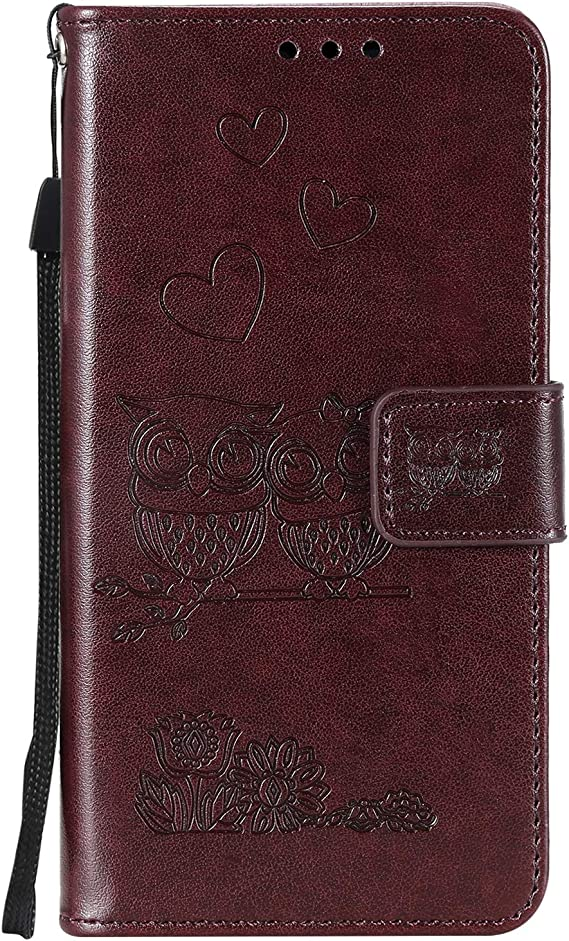 2016 // A510 Case Leather Wallet Case with Kickstand Card Holder Shockproof Flip Case Cover for Galaxy A5 Lomogo Embossed Owl Samsung Galaxy A5 2016 - LOHHA100051 Hot Pink