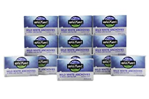 Wild Planet Wild Anchovies in Water with Sea Salt, 3rd Party Mercury Tested, 4.4 Ounce (Pack of 12)