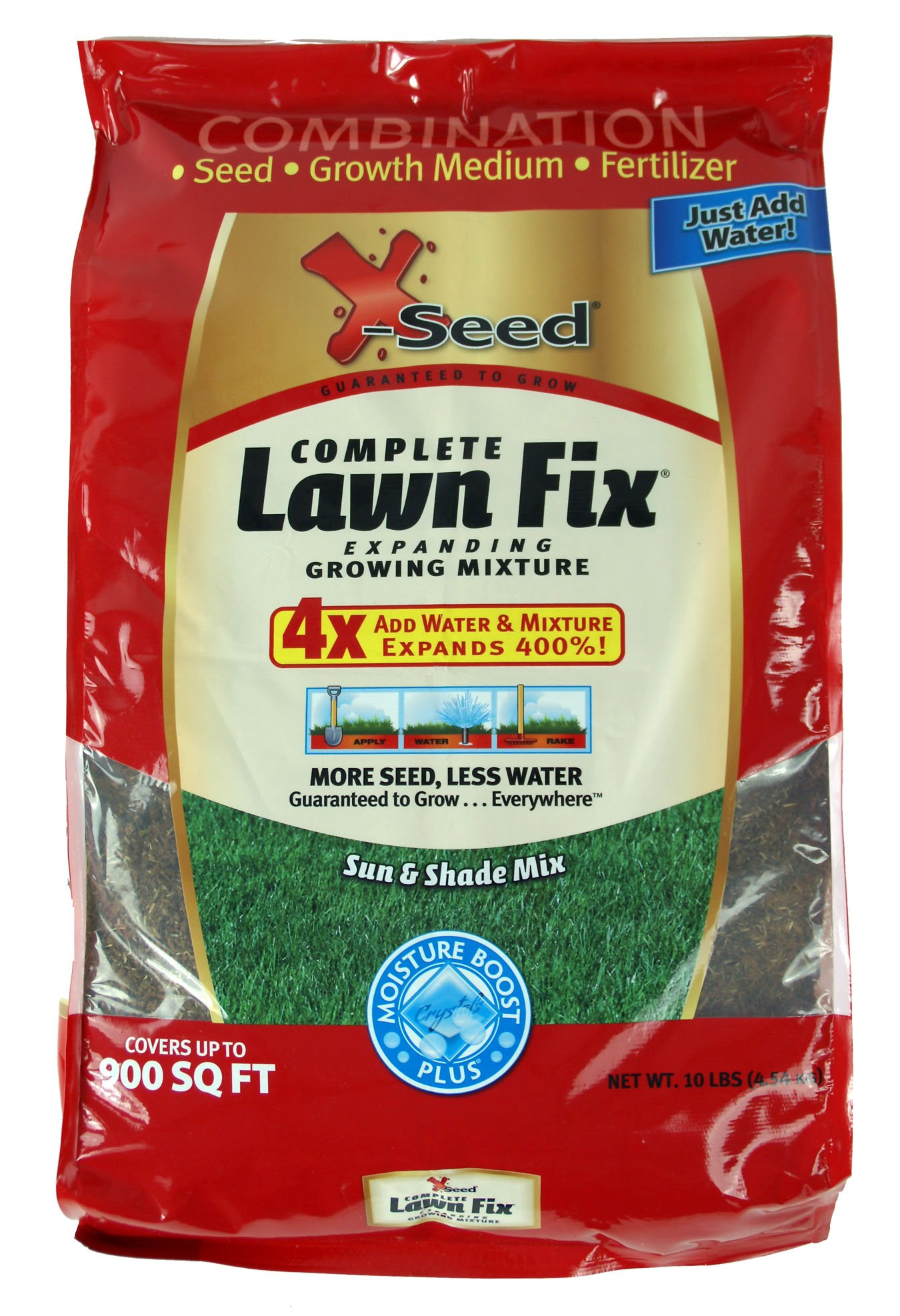 X-Seed Complete Lawn Fix Lawn Repair Sun to Shade Mix, 10-Pound