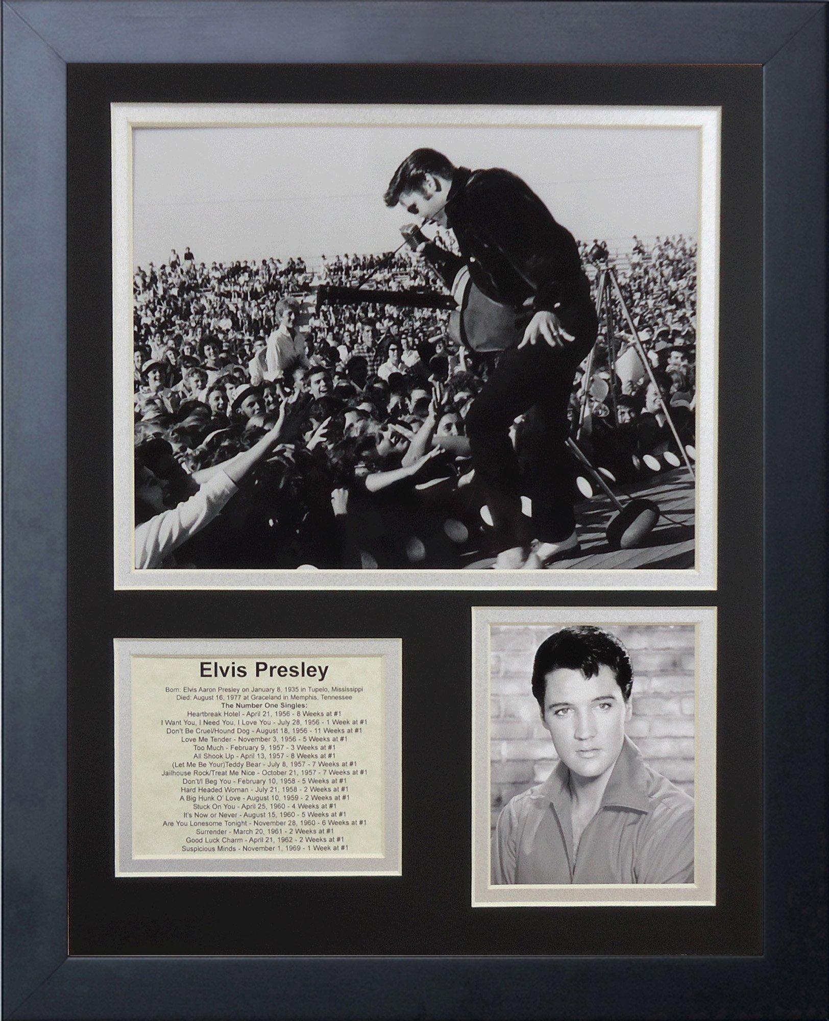 Legends Never Die Elvis Presley Live Framed Photo Collage, 11x14-Inch by Legends Never Die