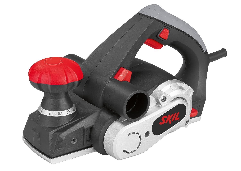 Skil 1565AA Rabot Electrique (720W, Coupe 82 mm, Profondeur de Rabotage 0-2 mm, É paisseur de Feuillure 18 mm, Raccord pour Aspirateur) Épaisseur de Feuillure 18 mm F0151565AA Rabot bois électrique Rabot à main