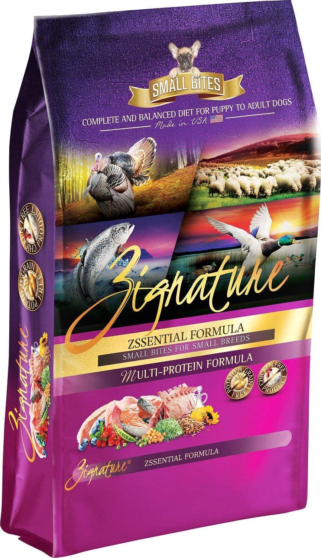 Zignature Zssentials Small Bites Dog Food 4 Pound Bag