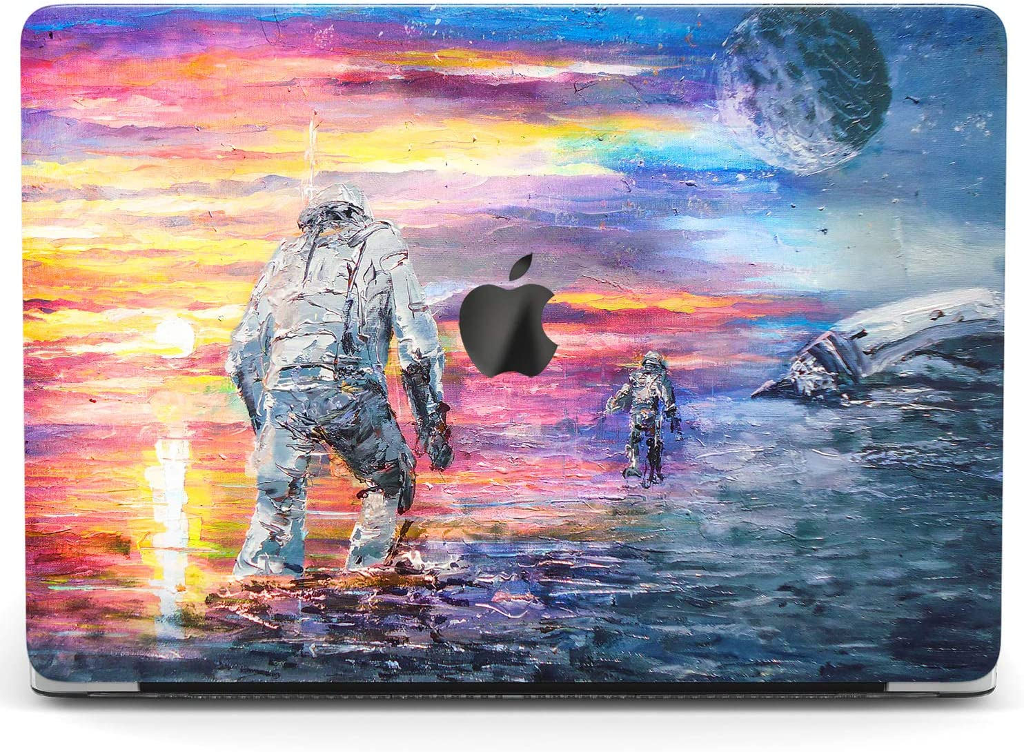 Wonder Wild Case for MacBook Air 13 inch Pro 15 2019 2018 Retina 12 11 Apple Hard Mac Protective Cover Touch Bar 2017 2016 2020 Plastic Laptop Print Watercolor Astronaut Landscape Bright Galaxy Art