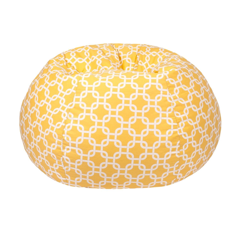 Gold Medal Bean Bags Gotcha Hatch Print Pattern Bean Bag, Medium Tween, Natural Yellow