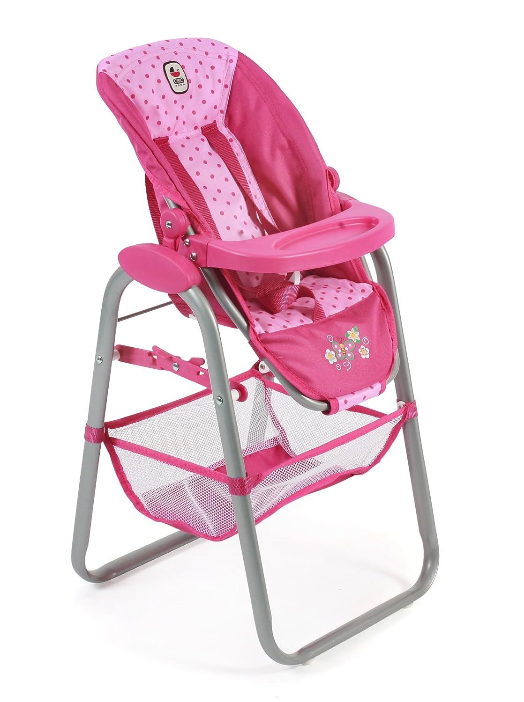 Bayer Chic 200065531Dolls High Chair, Dots Pink 655 31