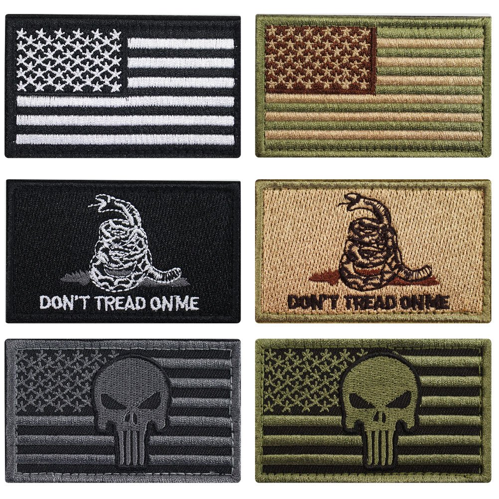 Bundle 6 Pieces Tactical Military Morale Patch Set (A)