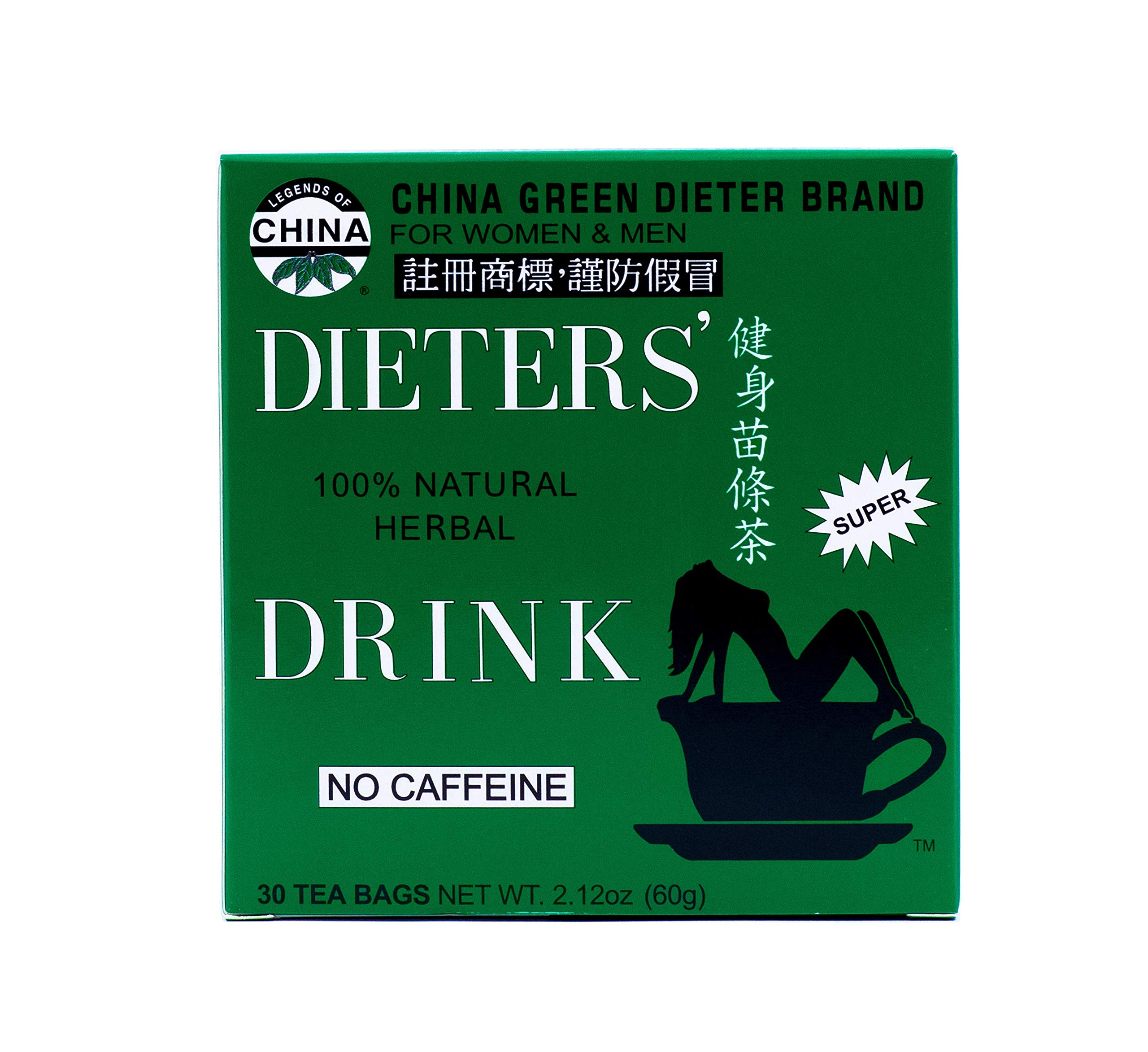 Uncle Lees Tea Dieters Tea for Weight Loss 30 Bags, 2.12oz (60g) - (Pack of 2)