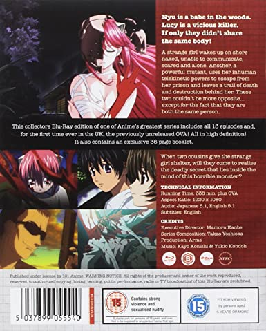 Elfen Lied Collectors Edition with OVA - Blu-ray: Amazon co