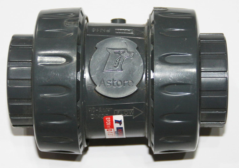 PVC Rückschlagventil Federserie Klebemuffe beidseitig