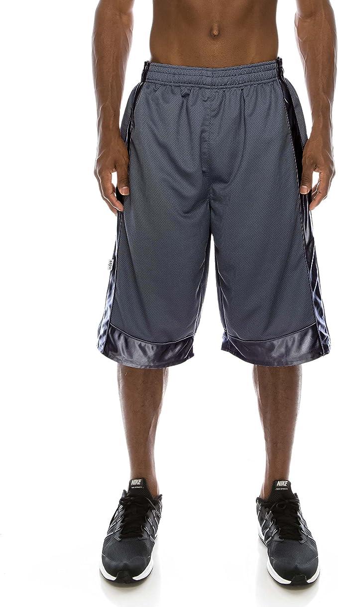 Amazon.com: Pantalones cortos de baloncesto de malla pesada ...