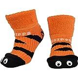 """""""GRIPPA"""" calcetines antideslizantes para niños con diseño ojos de tigre, hechos en Gran Bretaña y aprobado por los principales expertos en la salud del pie del Reino Unido"""