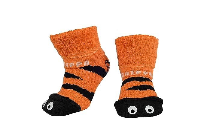 """""""GRIPPA"""" calcetines antideslizantes para niños con diseño ojos de tigre, hechos en"""