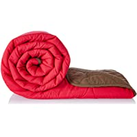 Amazon Brand - Solimo Microfibre Reversible Quilt Blanket