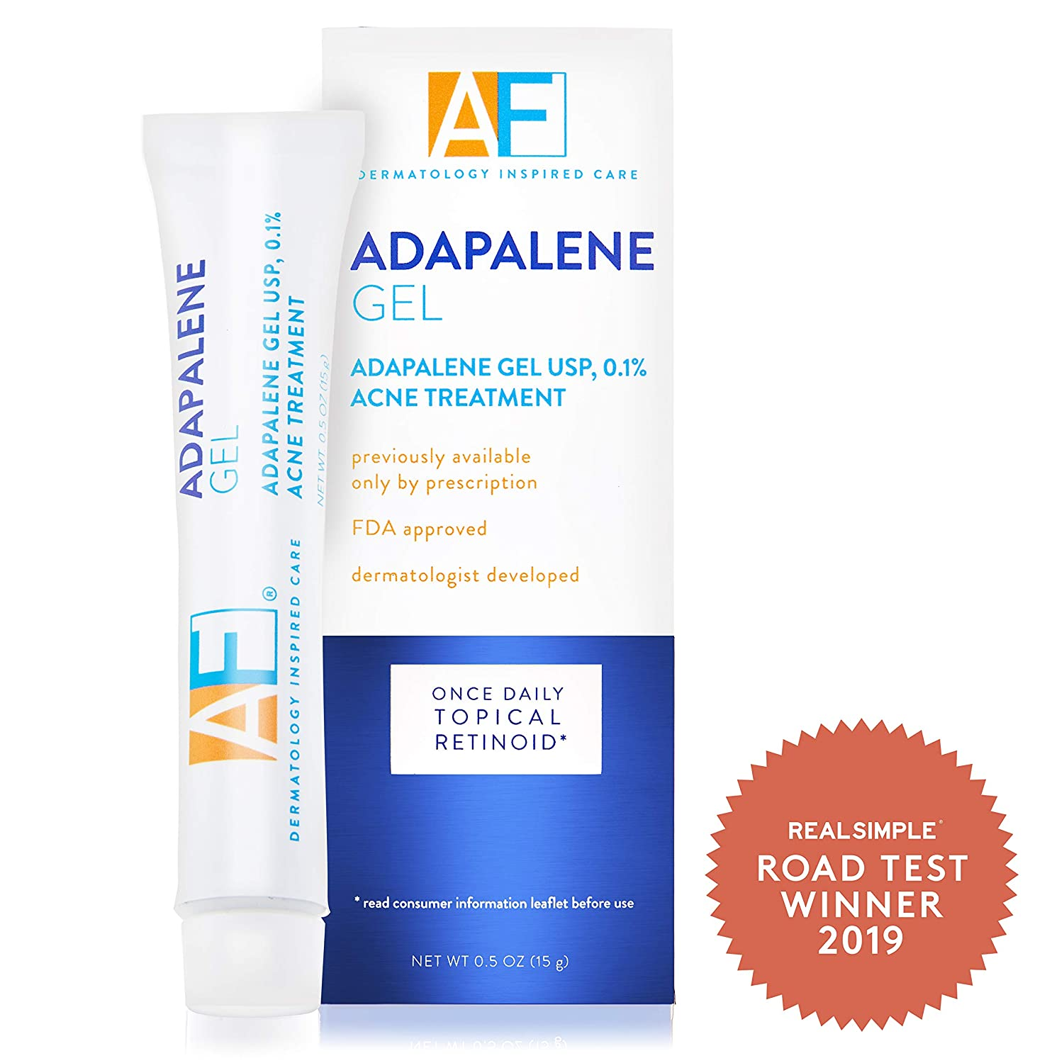 Amazon Com Acne Free Adapalene Gel 0 1 Once Daily Topical Retinoid Acne Treatment 30 Day Supply 0 5 Oz Beauty