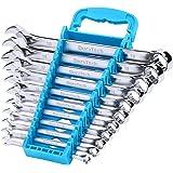 DURATECH Combination Wrench Set, Metric, 11-Piece, 8, 10, 11, 12, 13, 14, 15, 16, 17, 18, 19mm, 12-Point, Chrome Vanadium Ste