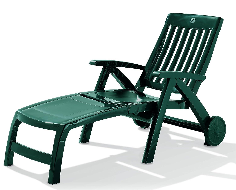 Sieger 749/S Klapprollliege Palma, Vollkunststoff, smaragdgrün