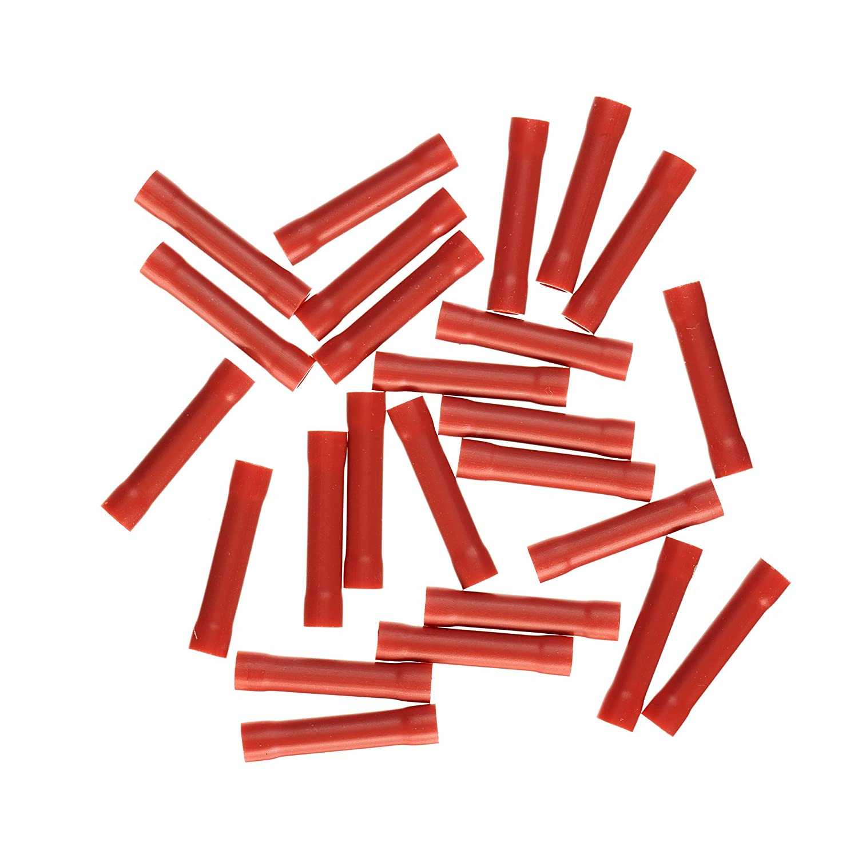 Haupa Stoß verbinder isoliert 0,5-1,5 mm² , 25 Stü ck, rot, BLV260350