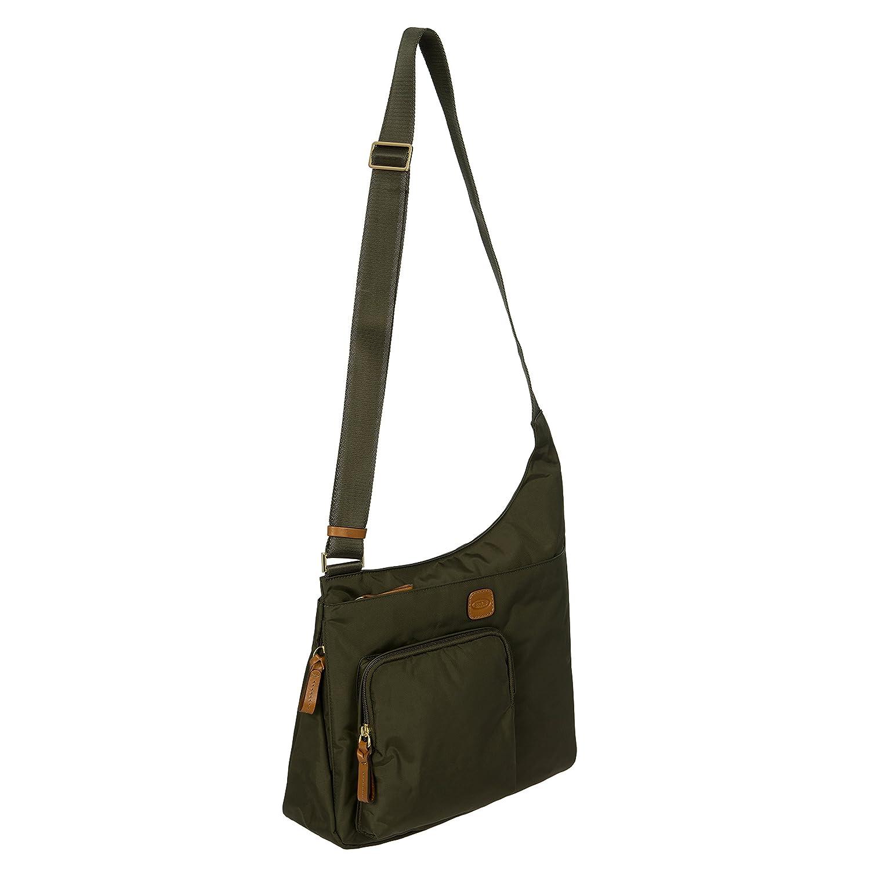 Bric's X-Bag Hipster Schulranzen, 32 cm, Blau (Ocean Blau) Grün (Olive) 32 cm