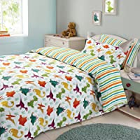 Dinosaur Double Duvet/Doona Cover and Pillowcase Set