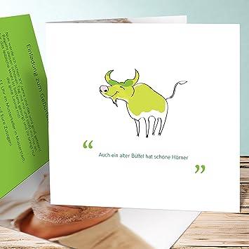 Einladungskarten 60 Geburtstag Selber Machen Büffelchen