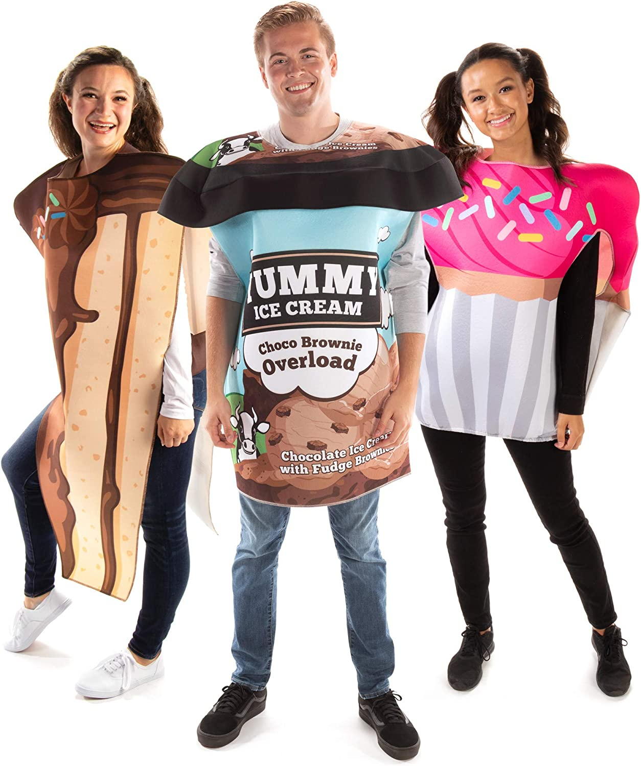 Cake, Ice Cream & Cupcake Group Costume - Cute Junk Food Halloween Outfits